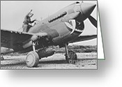 Autographed Art Greeting Cards - Warhawk P40 1943 Greeting Card by Padre Art