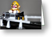 Wario Greeting Cards - Wario Cart Greeting Card by Don Mann