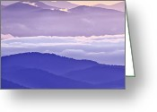 Cloudscape Photographs Greeting Cards - Warm and Cool in the Blueridge Mountains Greeting Card by Rob Travis