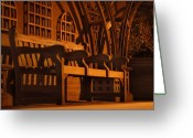 London England  Digital Art Greeting Cards - Warmth of a London Bench Greeting Card by Mike McGlothlen