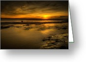 Seaview Greeting Cards - Warmth of Light Greeting Card by Svetlana Sewell