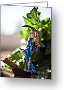 Fairies Art Greeting Cards - Warmth of the sun Greeting Card by Angelina Cornidez