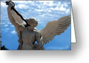 Faith Greeting Cards - Warrior Angel Greeting Card by Susanne Van Hulst