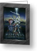 Armor Greeting Cards - Warriors - Dragon Slayer Greeting Card by Cliff Hawley