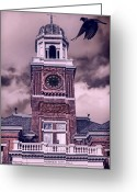 Cityhall Greeting Cards - Warwick City Hall Greeting Card by Lourry Legarde