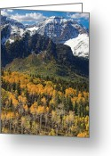 Forested Greeting Cards - Wasatch Mountains Autumn Greeting Card by Utah Images