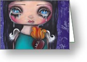 Abril Greeting Cards - Wash Away my Tears Greeting Card by  Abril Andrade Griffith