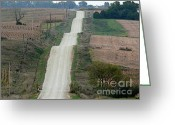 Wash Board Greeting Cards - Washboard road Greeting Card by David Bearden