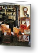 Old Washboards Greeting Cards - Washboards and Soap Greeting Card by Susan Savad