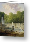 Hubert Greeting Cards - Washerwomen in a Park Greeting Card by Hubert Robert