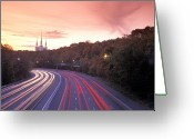 Beltway Greeting Cards - Washington Beltway Traffic, Route 495 Greeting Card by Richard Nowitz