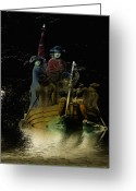 Delaware River Greeting Cards - Washington Crossing the Delaware in Color Greeting Card by Bill Cannon