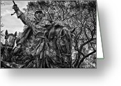 Russian Civil War Greeting Cards - Washington DC Monument Detail No 14 Greeting Card by Val Black Russian Tourchin
