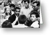 Civil Rights Greeting Cards - Washington D.c.: Sit-in, 1960 Greeting Card by Granger