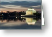 Tidal River Greeting Cards - Washington DC Thomas Jefferson Monument Greeting Card by Mark VanDyke