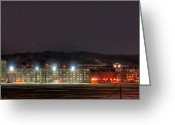 United States Military Greeting Cards - Washington Hall at Night Greeting Card by Dan McManus