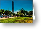 National Museum Of America History Greeting Cards - Washington Monument Greeting Card by David Hahn