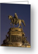 Philadelphia Museum Of Art Greeting Cards - Washington Monument Sculpture Greeting Card by John Greim