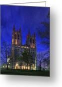 Paul Photo Greeting Cards - Washington National Cathedral After Sunset Greeting Card by Metro DC Photography