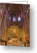Washington Cathedral Greeting Cards - Washington National Cathedral III Greeting Card by Irene Abdou