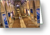 Washington Cathedral Greeting Cards - Washington National Cathedral IV Greeting Card by Irene Abdou