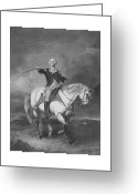 Military Mixed Media Greeting Cards - Washington Receiving A Salute At Trenton Greeting Card by War Is Hell Store