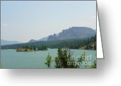 Mountains Mixed Media Greeting Cards - Washington Scenery - Snoqualmie National Forest Greeting Card by Photography Moments - Sandi