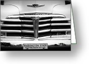 Monochrome Hot Rod Greeting Cards - Washington State Representative Greeting Card by Chalet Roome-Rigdon
