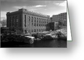 Spokane Greeting Cards - Washington Water Power Post Street Station - Spokane Washington Greeting Card by Daniel Hagerman