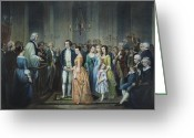 (first Lady) Greeting Cards - Washingtons Marriage Greeting Card by Granger