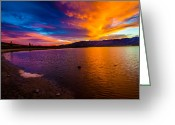 Nevada Greeting Cards - Washoe Lake Nevada Sunset Greeting Card by Scott McGuire