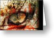 Monster Digital Art Greeting Cards - Watcher Greeting Card by Ken Walker