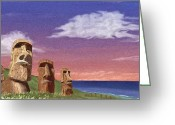 Contemplation Digital Art Greeting Cards - Watchers Greeting Card by Gordon Beck