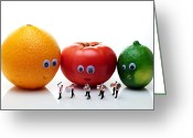 Tomato Digital Art Greeting Cards - Watching Festival Parade Greeting Card by Mingqi Ge