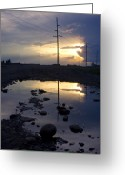 Puddle Greeting Cards - Water and Electricity Greeting Card by Idaho Scenic Images Linda Lantzy