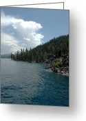 Travel Greeting Cards - Water and Vapor lake Tahoe Greeting Card by LeeAnn McLaneGoetz McLaneGoetzStudioLLCcom