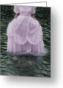 Evening Dress Greeting Cards - Water Bride Greeting Card by Joana Kruse