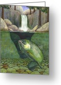Fish Greeting Cards - Water Greeting Card by Catherine G McElroy