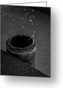 Pipe Photo Greeting Cards - Water Dripping Up The Spout Greeting Card by Bob Orsillo