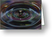 Drop Greeting Cards - Water Drop No.7 Greeting Card by Nadya Ost