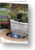 Flower Show Greeting Cards - Water Feature Greeting Card by Vaughan Fleming