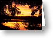 "\""sunset Photography Prints\\\"" Greeting Cards - Water Front Spactacular Sunset Greeting Card by James Bo Insogna"