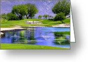 Sand Traps Greeting Cards - Water Hazard Greeting Card by Dominic Piperata