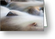 Yosemite Creek Greeting Cards - Water in the move Greeting Card by Olivier Steiner