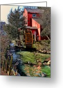 Digital Image Greeting Cards - Water Mill Greeting Card by Tom Prendergast