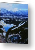 Canadian Rockies Greeting Cards - Water n Ice Greeting Card by Jordan  Drapeau