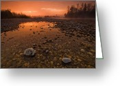 Orange Greeting Cards - Water on Mars Greeting Card by Davorin Mance