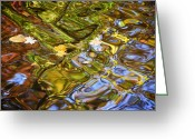 Independence Park Greeting Cards - Water Prism Greeting Card by Robert Harmon