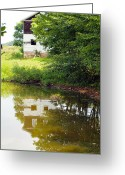 Old Country Roads Greeting Cards - Water Reflections Greeting Card by Robert Margetts