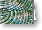Reflections In Water Greeting Cards - Water Ripples Greeting Card by Cheryl Young